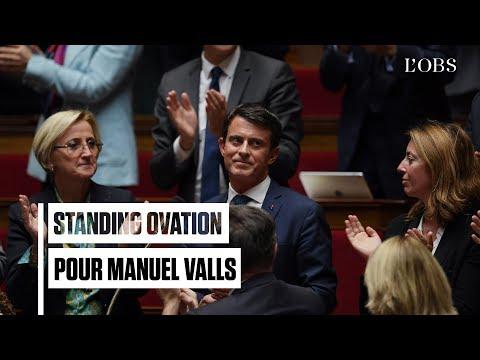 """Standing ovation pour Manuel Valls à l'Assemblée, """"Bon débarras"""" pour la France insoumise"""
