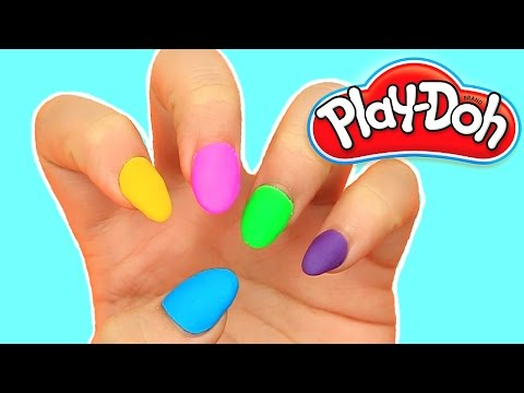 DIY Play Doh Nails! IT REALLY WORKS!