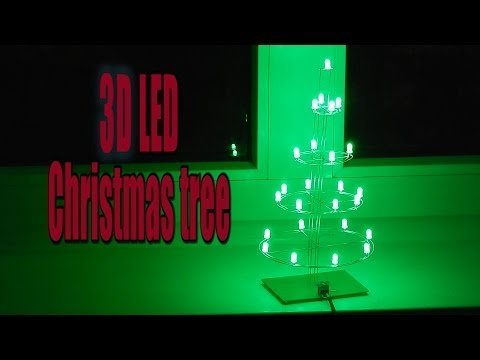 3D LED Christmas tree