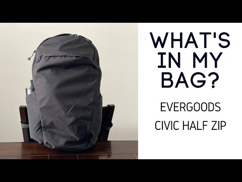 What's in My EDC Backpack? – Evergoods Civic Half Zip (CHZ22) Review