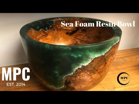Sea Foam Resin Bowl