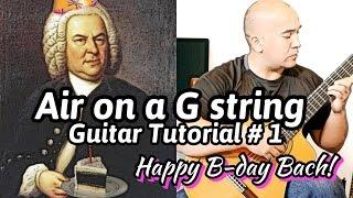 Air on a G string | J. S. Bach | Classical Guitar Lesson#1 (of 3) | NBN Guitar