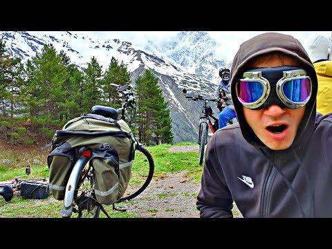 ✅Испытание Мотор -Колеса в горах Кавказа - сгорела зарядка! Крутое ущелье