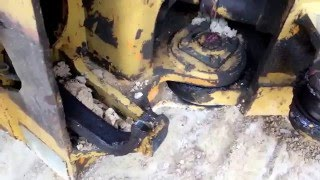 Broken Hydraulic Ram on Articulating Dump Truck