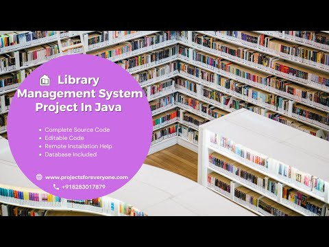 Library Management System Project In Java📥