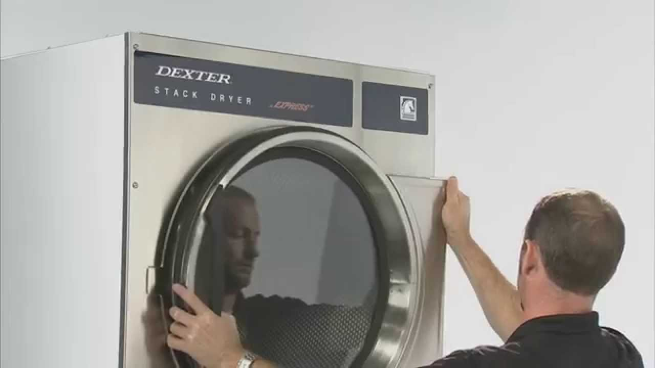 replacing the tumbler on the dexter stack dryer