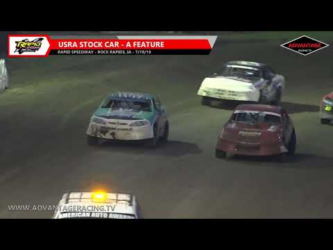 B-Modified/Stock Car Features - Rapid Speedway - 7/19/19
