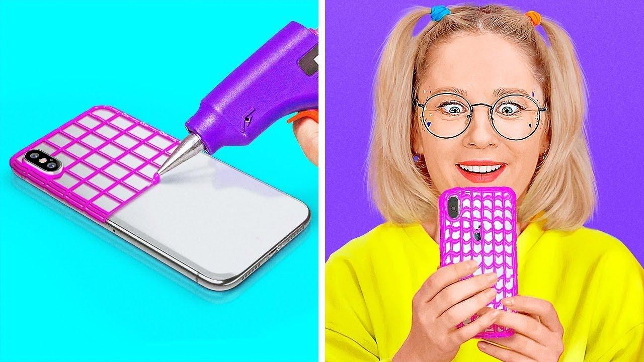 IDEAS DE BRICOLAJE PARA TRABAJAR EN TU TELÉFONO || Geniales ideas y trucos fáciles para tu teléfono
