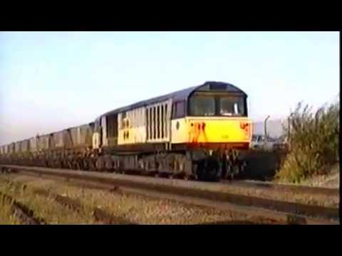 Class 56 & 58 Freight Action at Worksop 1991