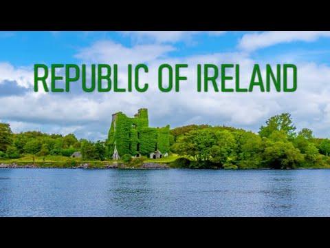 REPUBLIC OF IRELAND (4K Country Tour) Stunning Aerial/Walking Tour 4K Footage