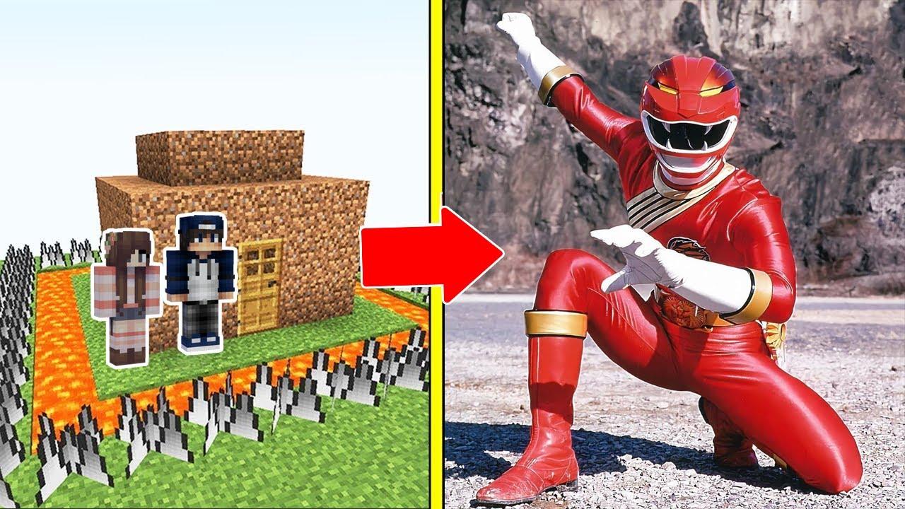 SIÊU NHÂN GAO Tấn Công Nhà Được Bảo Vệ Bởi bqThanh và Ốc Trong Minecraft