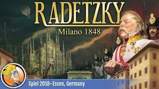 Radetzky: Milano 1848 — game overview at SPIEL '18