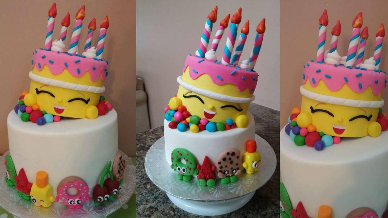 Shopkins Decorated Cake