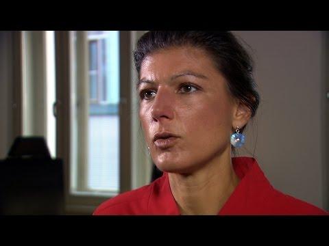 Sahra Wagenknecht (DIE LINKE) über Populismus und Hass im Netz