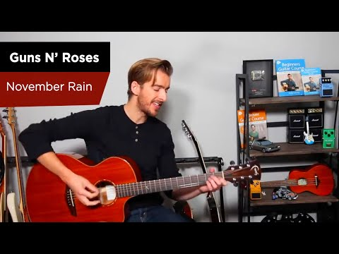 November Rain - Guns 'N' Roses Guitar Lesson Tutorial - Easy Chords