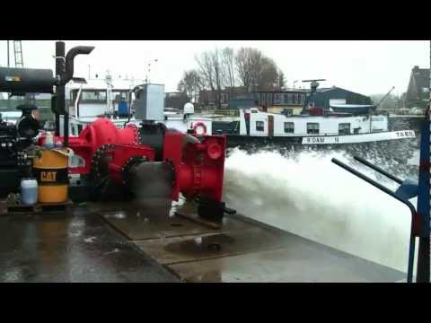 High capacity water pumps for irrigation. Powered by diesel engines. Custom-made by RAC-Germany.