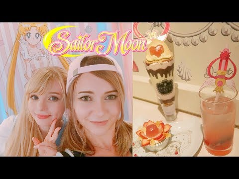 We Went to the Cutest SAILOR MOON CAFE in Tokyo