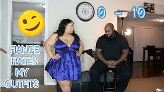 FIANCE RATES MY FASHION NOVA CURVE OUTFITS! PLUS SIZE TRY ON HAUL