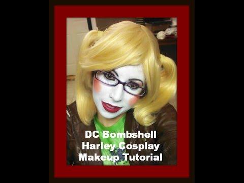 DC Bombshell Harley Cosplay Makeup Tutorial