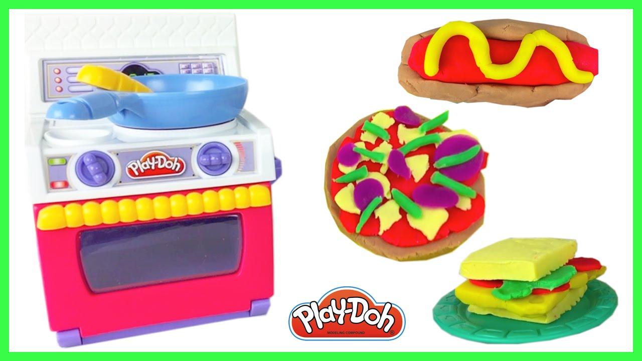 Cocinita de juguete comida plastilina pizza sandwich toy for Play doh cuisine