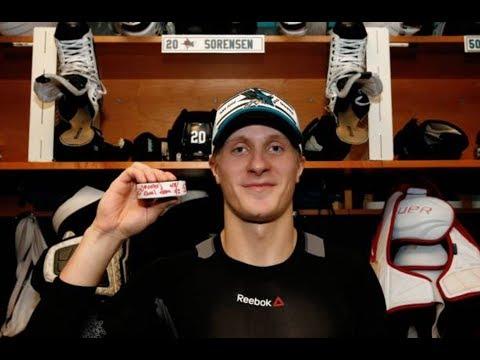 Marcus Sörensen Post-Game Interviews After 1st NHL Goal