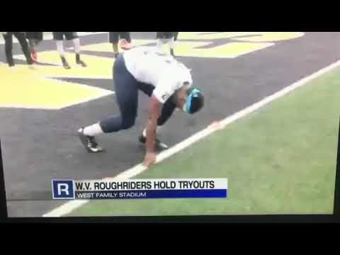 WTRF Cover West Virginia Roughriders Tryouts @ West Liberty University