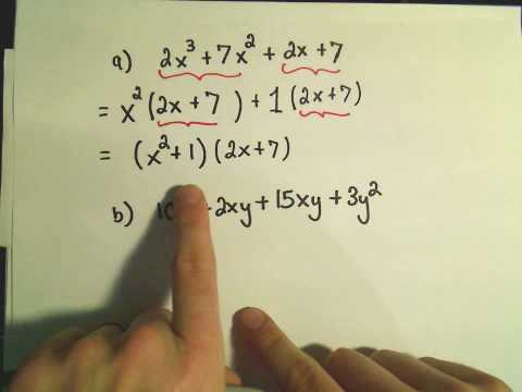 Factoring by Grouping - Ex 1