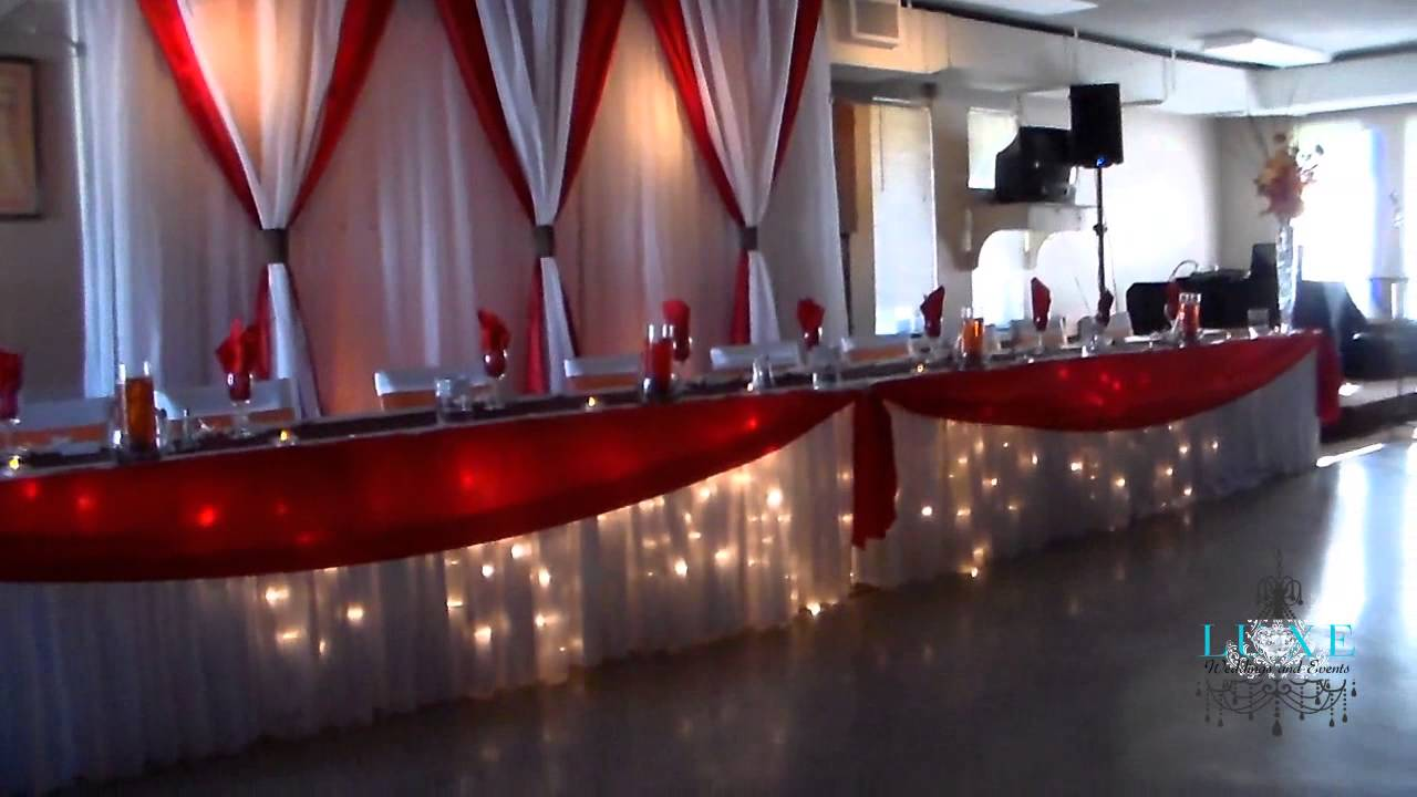 Beautiful Orange, White, Brown and Red Wedding Decor by LUXE ...