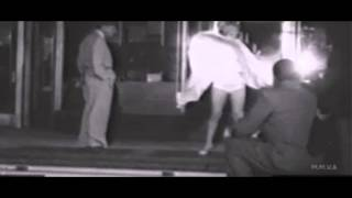 Rare footage of Marilyn Monroe And The Skirt Blowing up Scene With Joe Dimaggio In The B