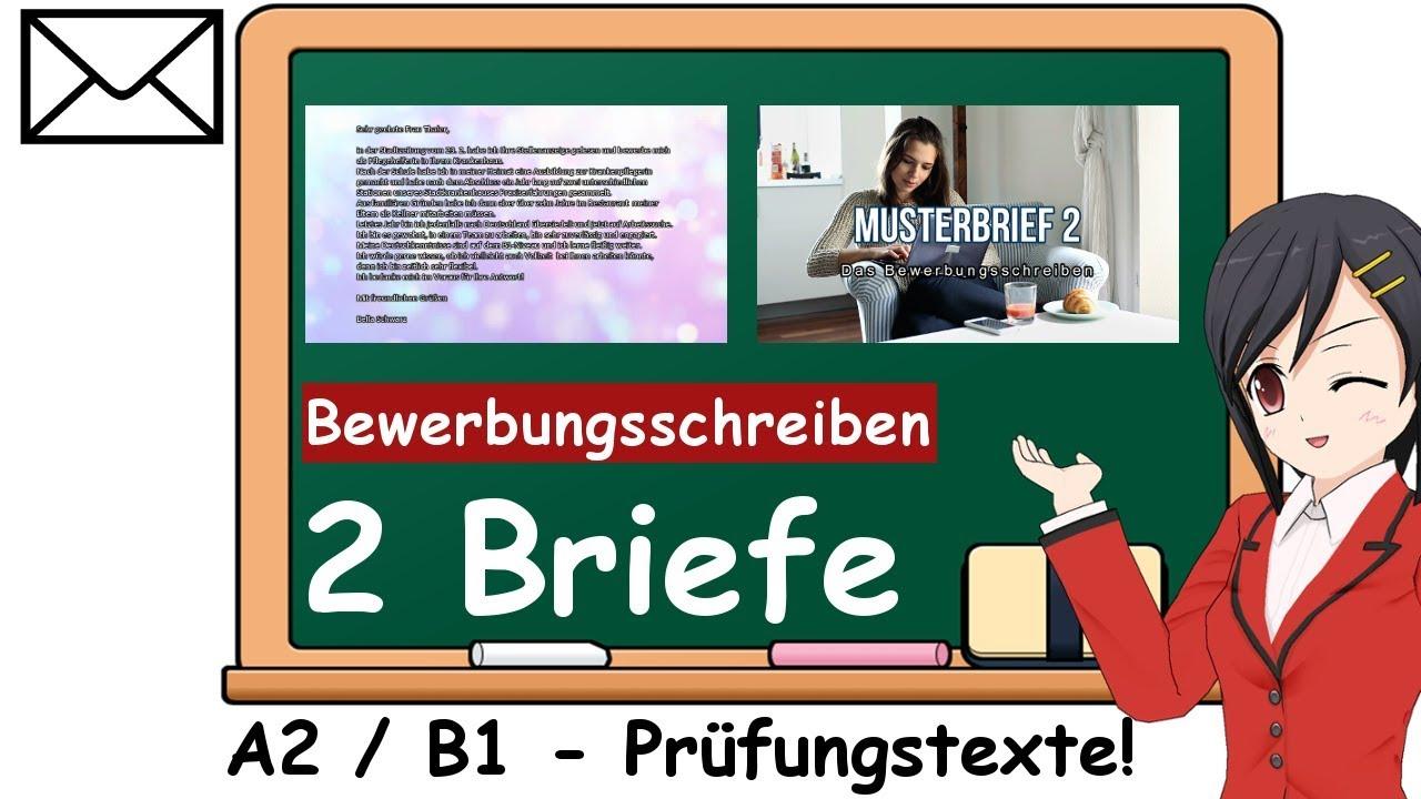 Persönliche Briefe Musterbriefe : Deutsch briefe schreiben prüfung b und a musterbriefe