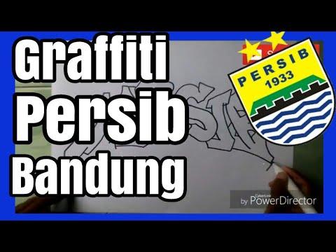 Cara Menggambar Graffiti Persib Bandung Part