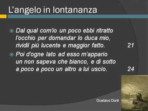 Inizio del secondo canto del purgatorio di Dante,  vv. 1-69