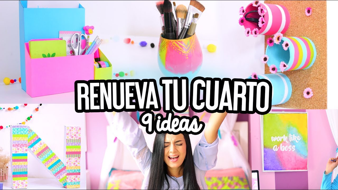 DIY DECORACIÓN DE CUARTO + ORGANIZACIÓN, FÁCIL | ROOM ... on Room Decor Manualidades Para Decorar Tu Cuarto id=56404
