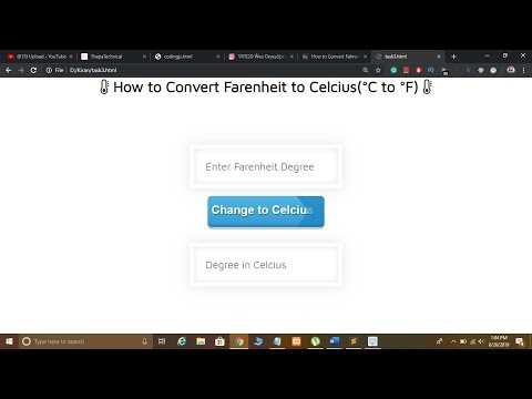 How to Convert Fahrenheit to Celsius in JavaScript in Hindi.