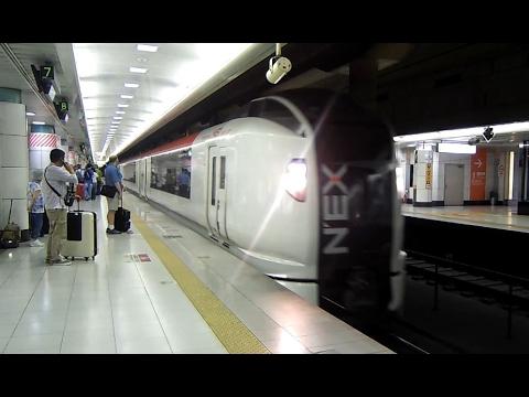 日本東京成田機場NEX電車進站-The NEX TRAIN-Narita airport-成田 ...