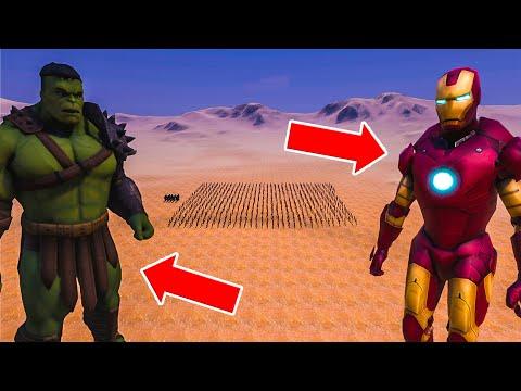 ЖЕЛЕЗНЫЙ ЧЕЛОВЕК ПРОТИВ ХАЛКА! БИТВА СУПЕРГЕРОЕВ! ➤ Ultimate Epic Battle Simulator