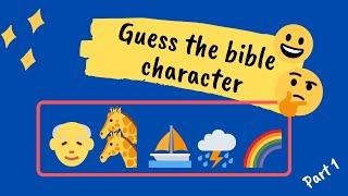 Emoji bible quiz 😀 Guęss the bible character emoji quiz. Part 1