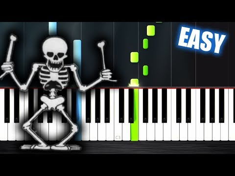 Spooky Scary Skeletons - EASY Piano Tutorial by PlutaX