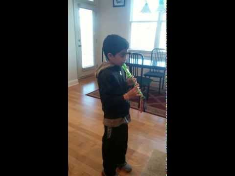 Navam plays on recorder A Little Recorder Music