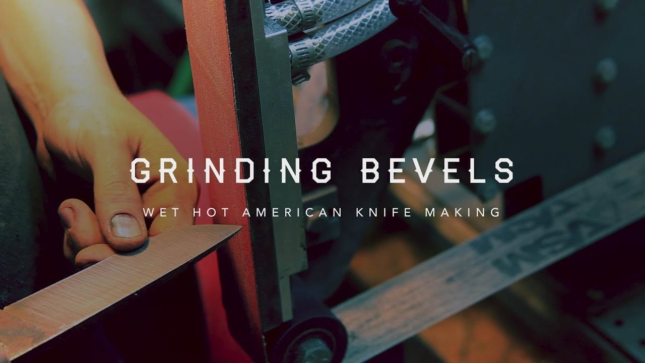 knife making part 8. grinding bevels