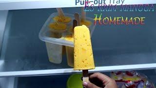 Resep es krim stik mangga homemade lembut dan mudah