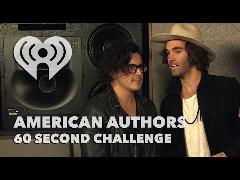 "American Authors - ""60 Second Challenge"" Interview 