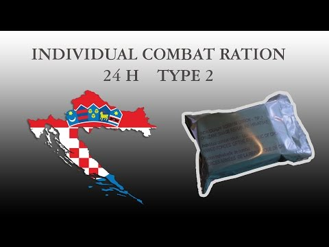 CROATIAN ARMY COMBAT RATION - Type 2 (part 1)