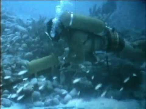 Scott Hydro-Pak SCUBA Divers Search for Florida Confederate Civil War Shipwreck Treasure Film