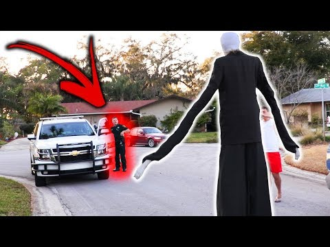 SLENDER MAN DING DONG DITCH PRANK GONE WRONG!! (Ft. JonVlogs