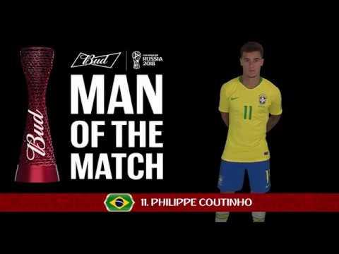 Philippe COUTINHO (Brazil) - Man of the Match - MATCH 25