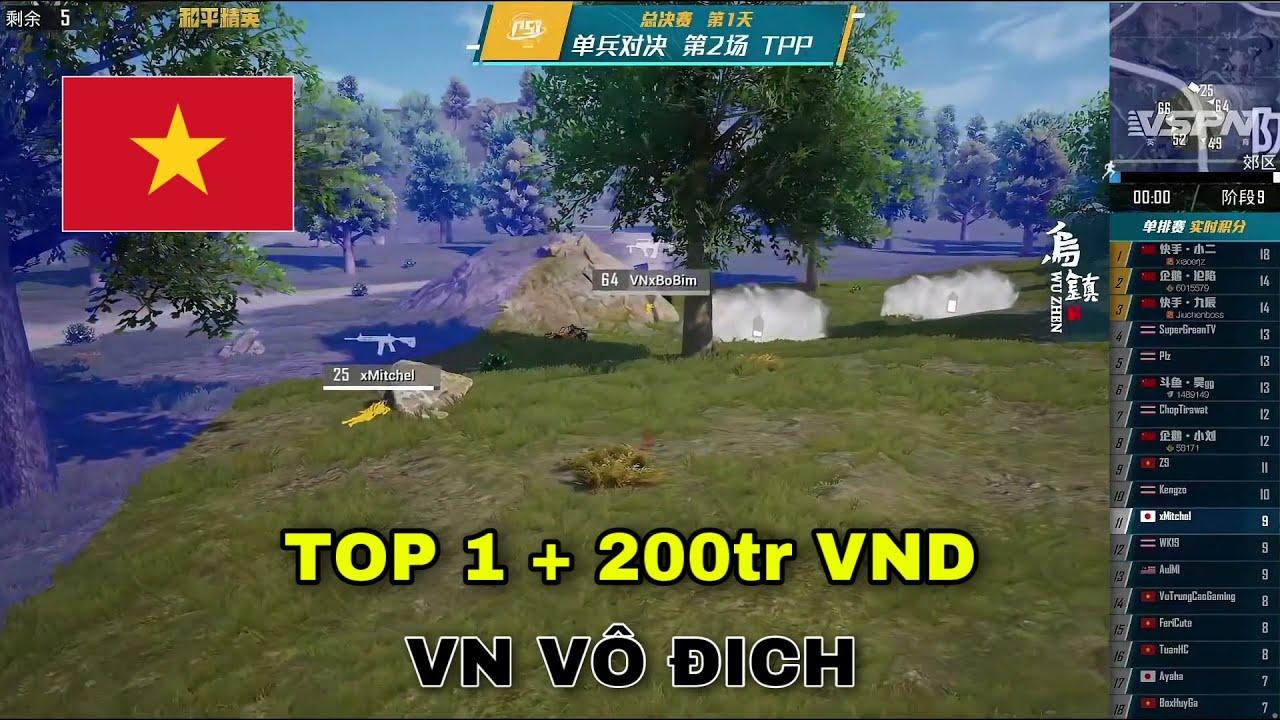 Nhuộm đỏ lá Cờ Việt Nam tại Chung kết giải đấu PSI, Bộ Bim ẵm ngay giải thưởng 200tr | PUBG MOBILE