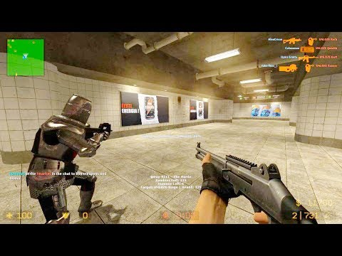 Counter Strike Source - Zombie Riot Mod Online Gameplay On Subway Map