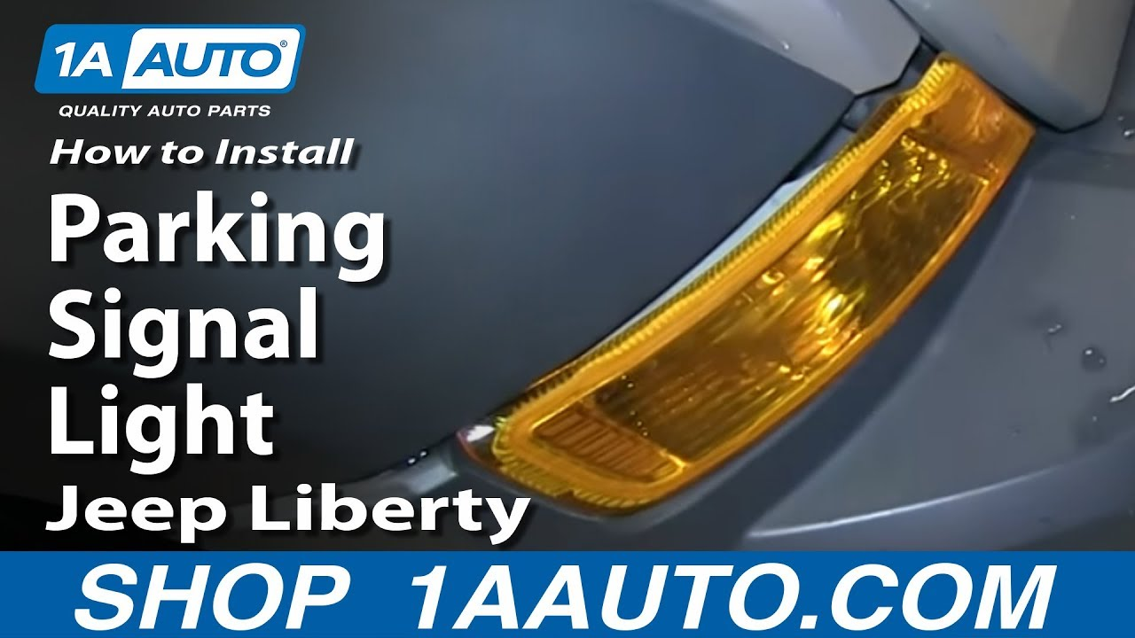 hight resolution of how to install replace change parking signal light 2005 07 jeep liberty youtube