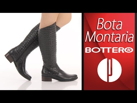 9c0cfbdb13 Bota Montaria Feminina Bottero - Preto - 6010377412 - YouTube
